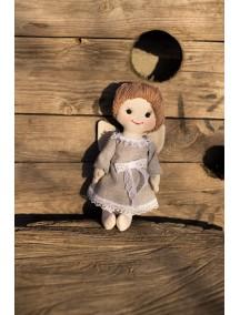 Кукла -ангелочек,  текстильная, маленькая, ручная работа