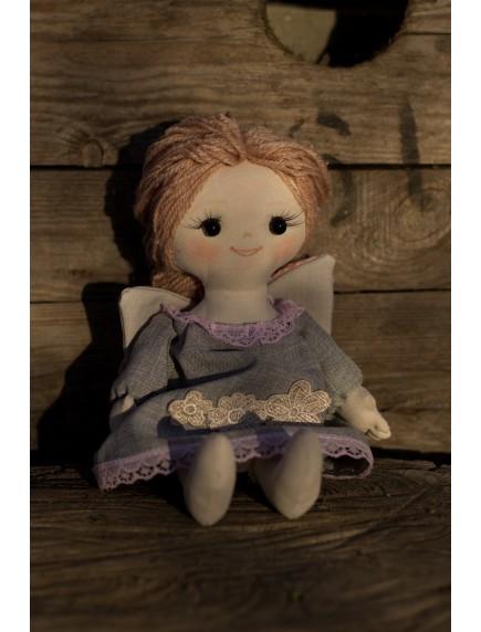 Кукла -ангелочек,  текстильная, средняя, ручная работа