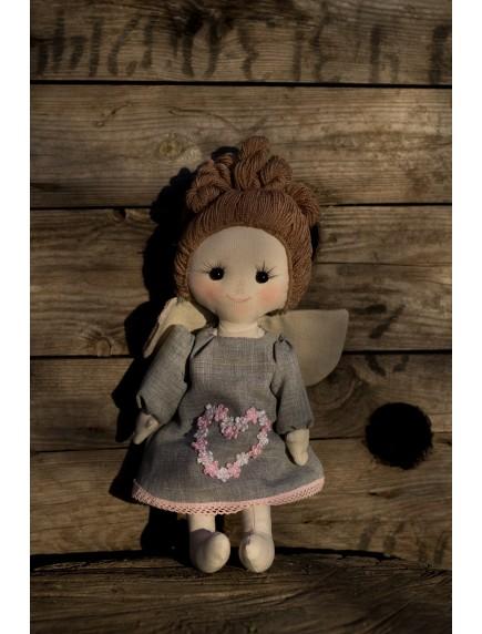 Кукла -ангелочек,  текстильная, большая, ручная работа